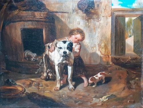 Bulldog kis lánnyal
