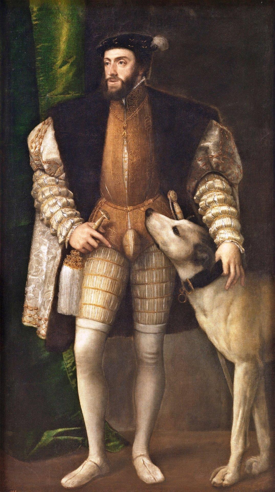 V. Károly császár és kutyája 1533._forrás_wikipedia