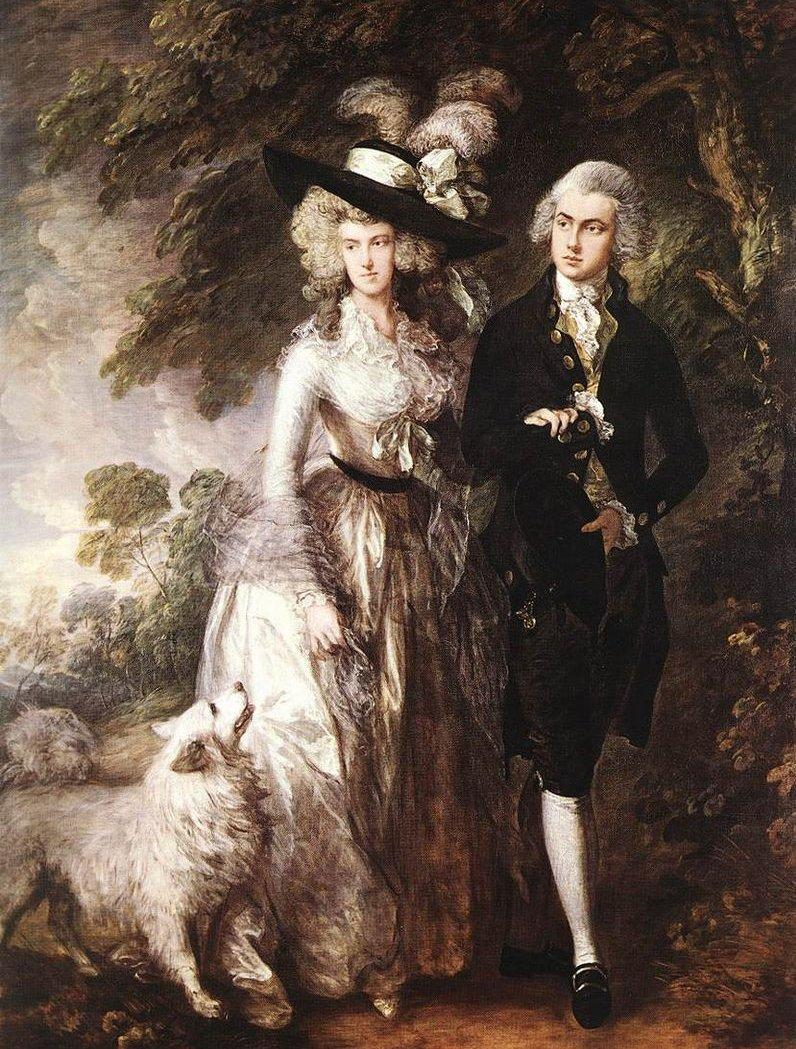 Mr_and_Mrs_William_Hallett_by_Thomas Gainsborough, 1785. forrás:wikipedia.org