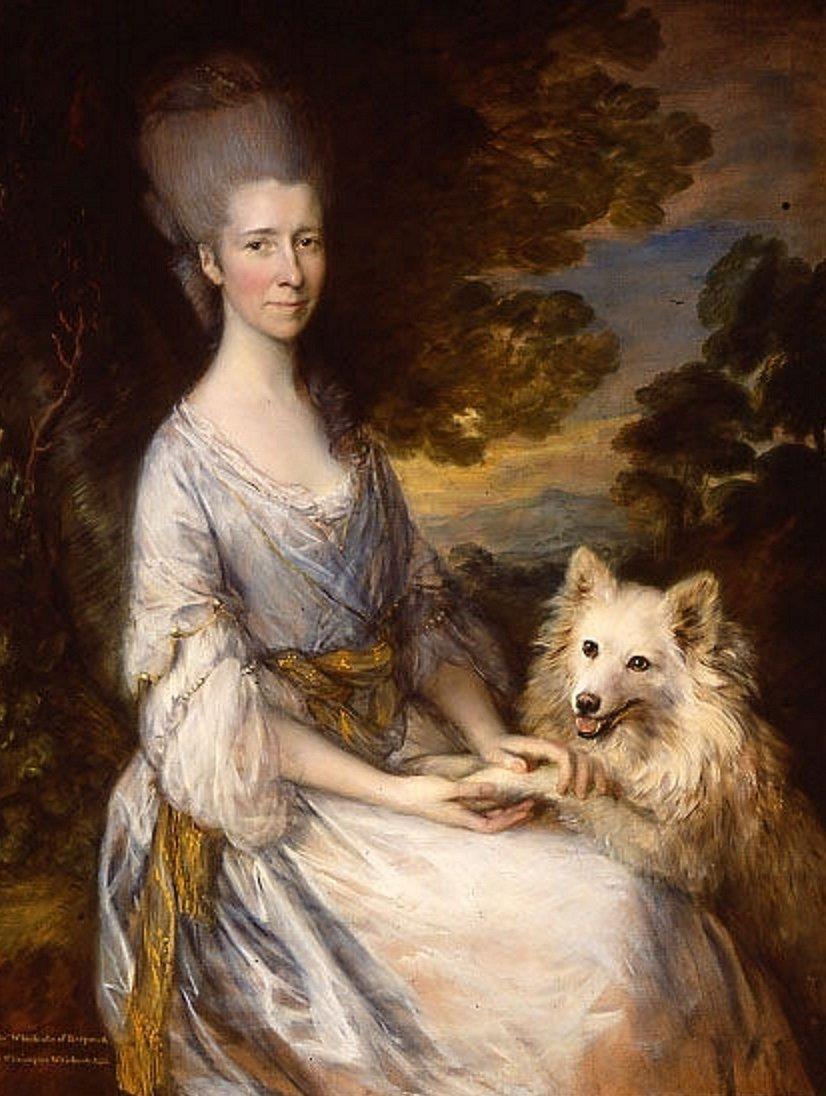 Thomas Gainsborough festménye 1765. Jane kisasszony spiccel_forrás:pinterest.co.kr