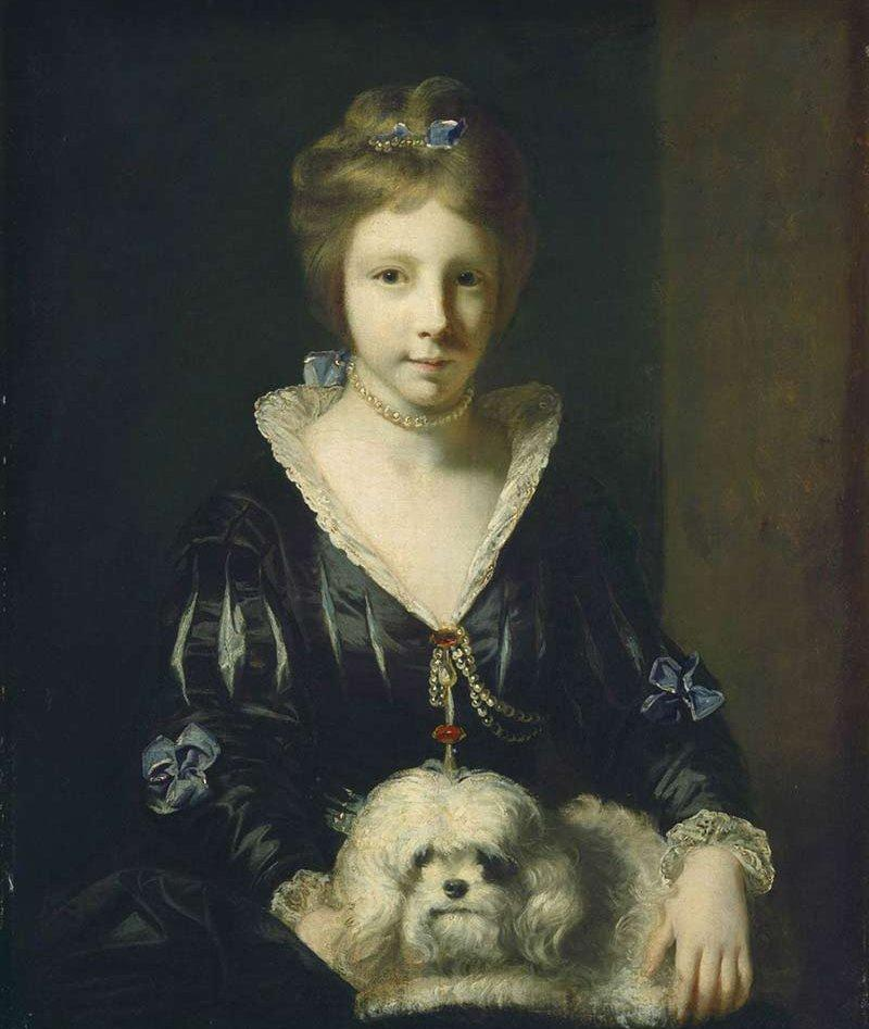 """""""Miss Beatrix Lister,"""" by Sir Joshua Reynolds, National Gallery of Art_portre, Forrás:akc.org"""