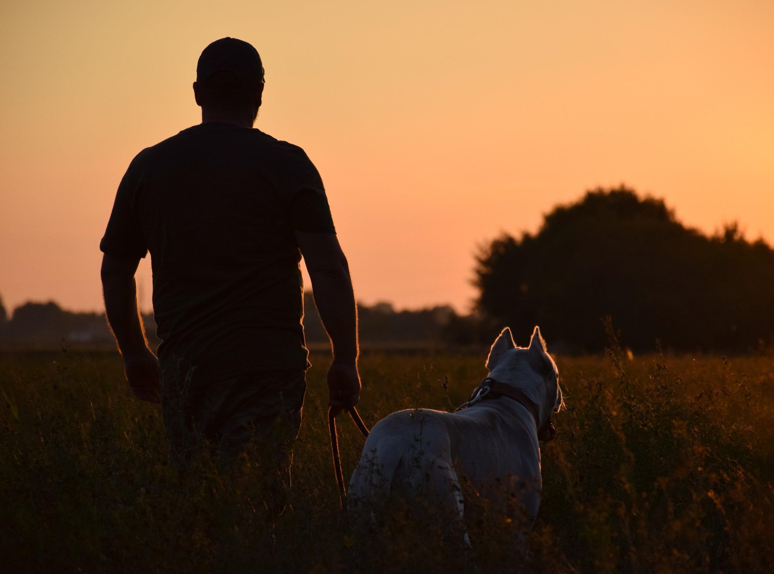 Argentin dog gazdájával