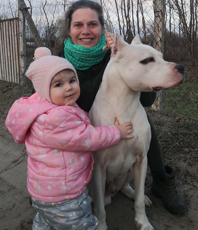 Argentin dog gyerekkel
