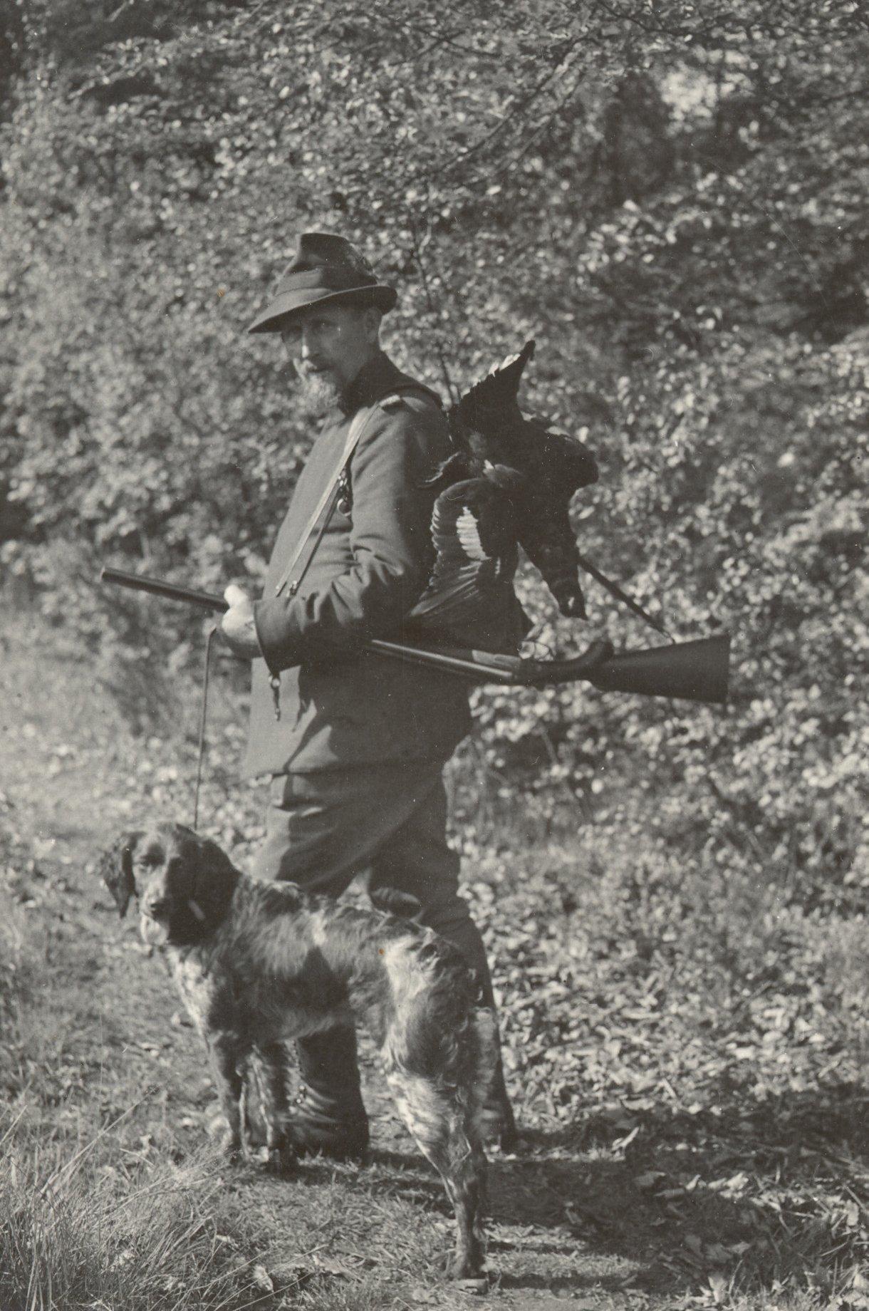Edmund kutyájával_forrás: muensterlaender.org