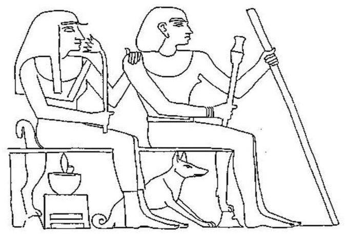 Egyiptomi kutya ábrázolás