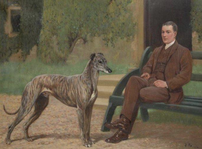 John Charlton Kép címe: Fullerton gazdájával és tenyésztőjével E. Dent-tel