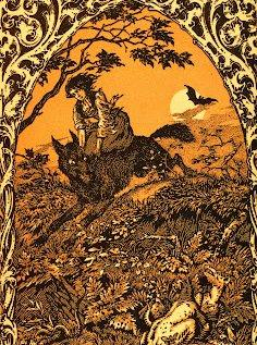 1926.-os kép: Boszorkány kutyájával_forrás:karlshuker.blogspot.com