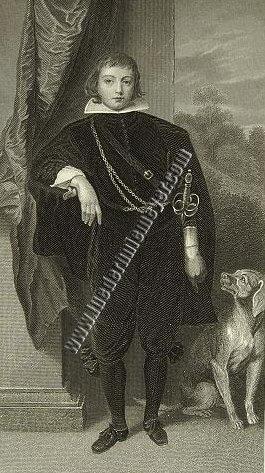 Van Dyck (1599-1641) festőművész portréja Rupprecht von Pfalz fejdelemről