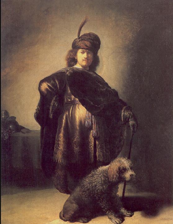Rembrandt önarckép uszkárral